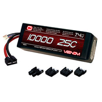 Venom 25C 2S 10000mAh 7.4 LiPo Battery with Universal Plug