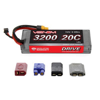 VENOM RACING - DRIVE 20C 2S 3200MAH 7.4V LIPO HARDCASE BATTERY WITH UNI 2.0 PLUG