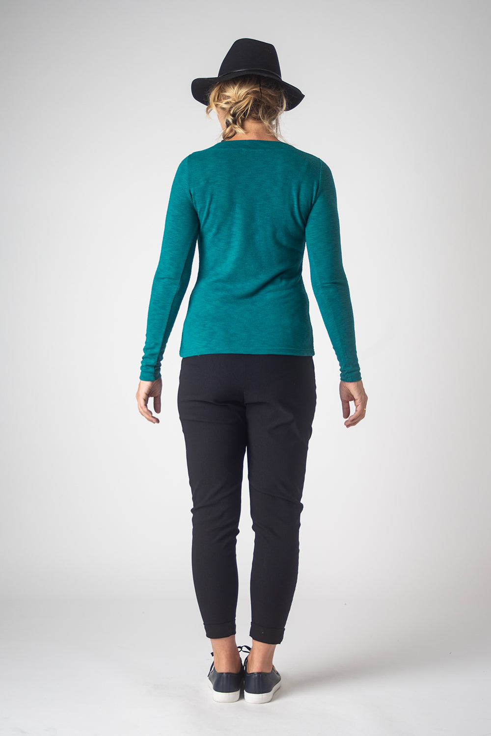 Boatneck Top, Jade