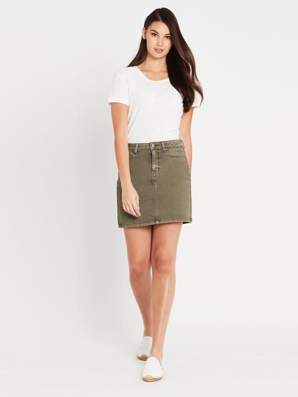 Mavi Alice Skirt, Fatigue Washed Sporty