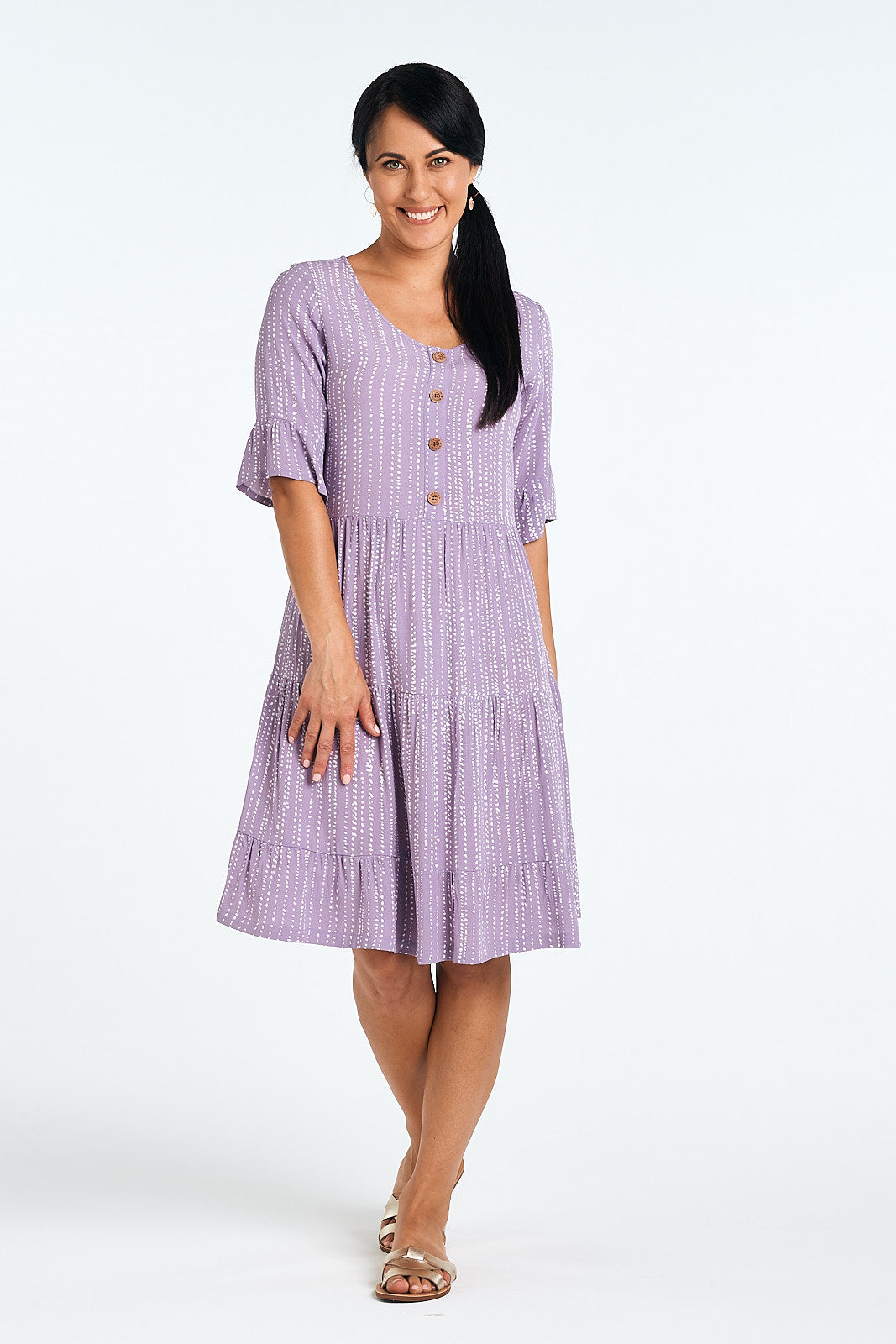 Flora Dress in Lilac