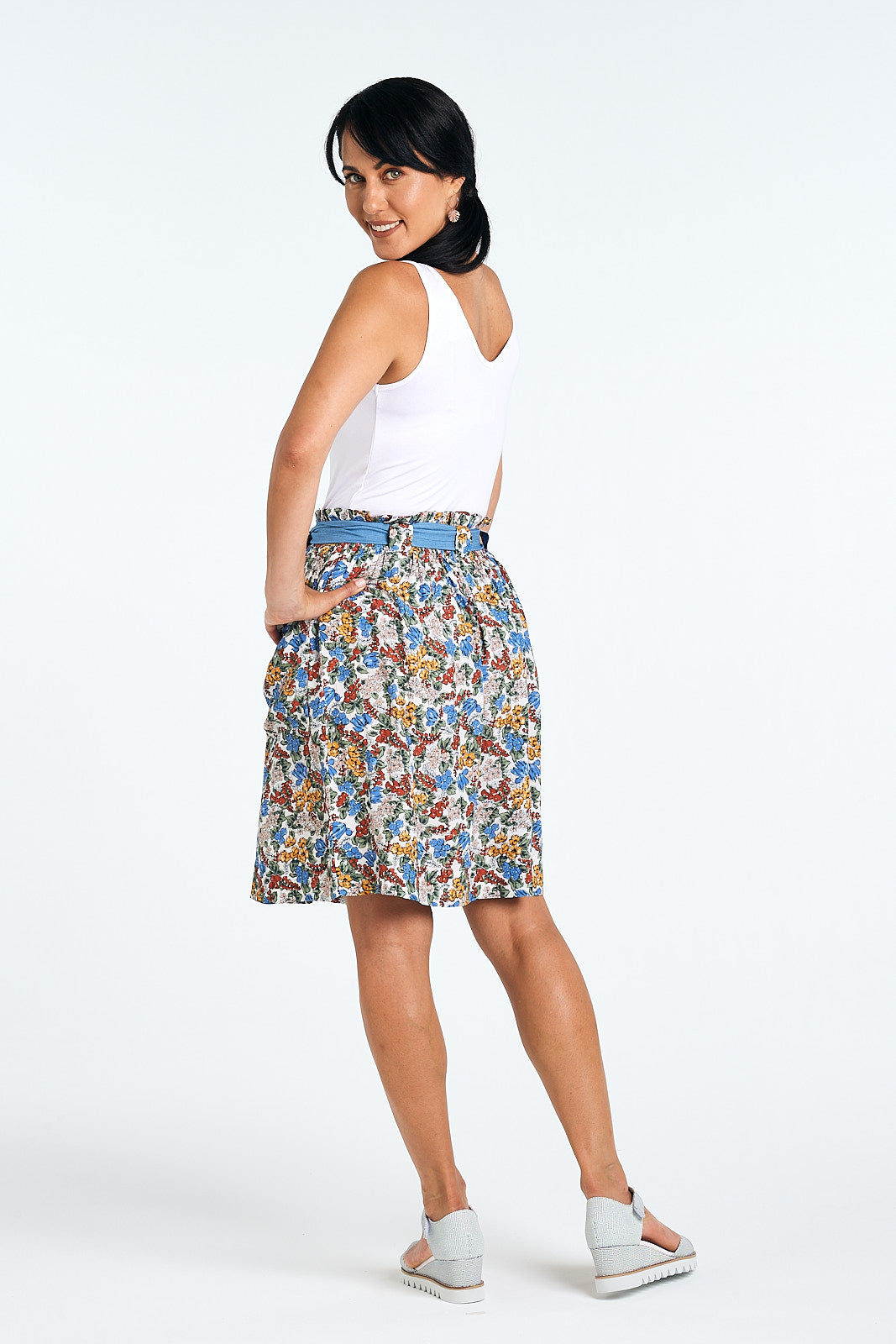 Helena Skirt, Summer Ditsy