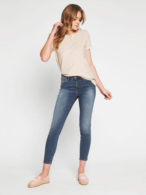 Mavi Alissa Ankle Skinny jean Light Gold Edge
