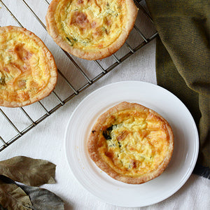 Turkey Spinach Quiche (6 pieces)