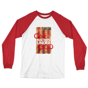 One nation under God Long Sleeve Baseball T-Shirt
