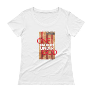 One nation under God Ladies' Scoopneck T-Shirt