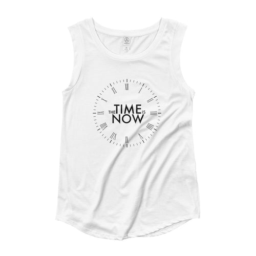 The time is now. Ladies' Cap Sleeve T-Shirt
