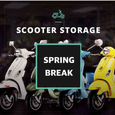 Spring Break Scooter Storage