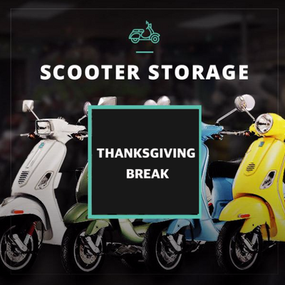 Thanksgiving Scooter Storage