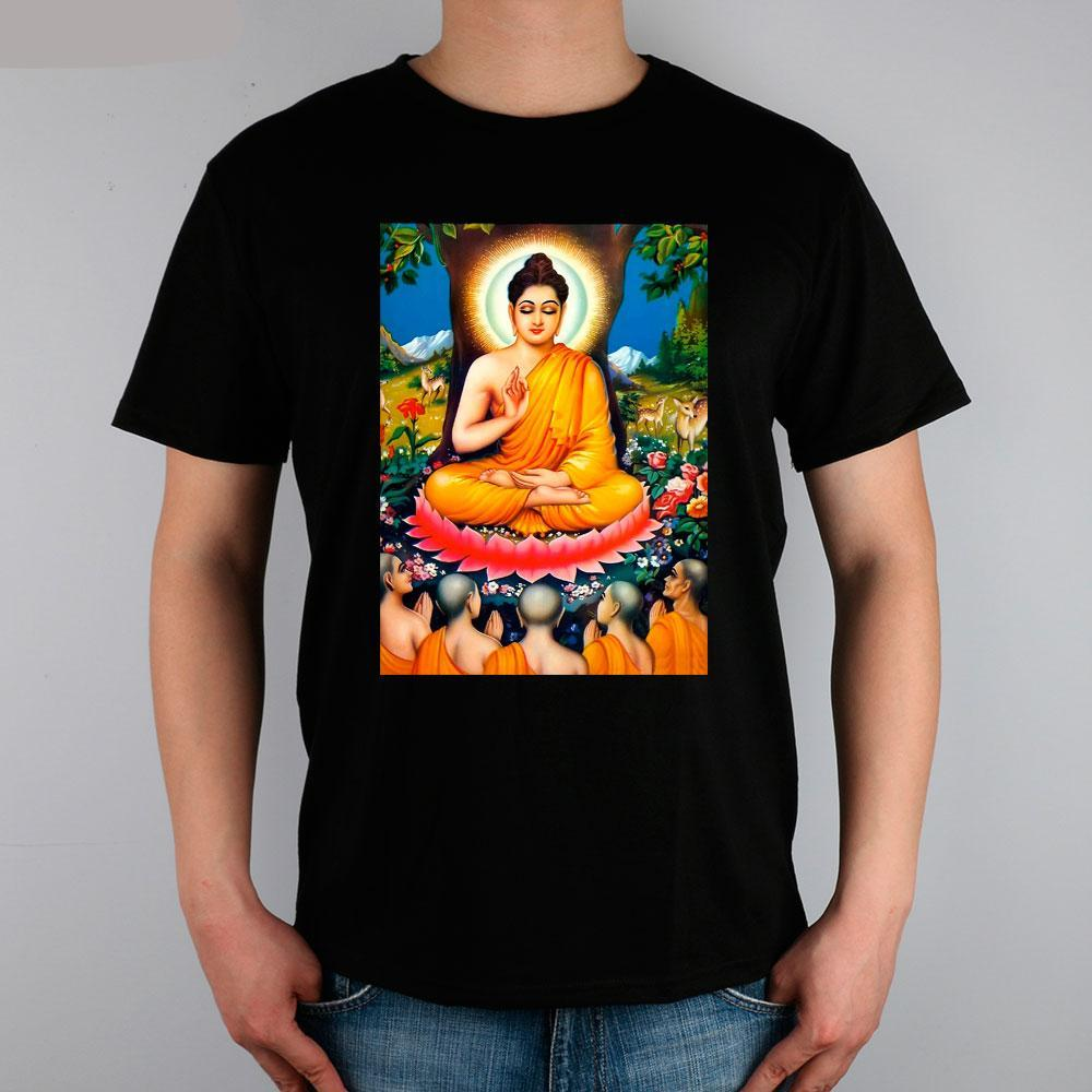 Buddha Deep Meditation Under a Tree - 10 Colors - Men's T-Shirt