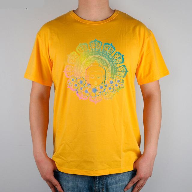 Colorful Buddha Head in 8 subtle colors - Men's T-shirt