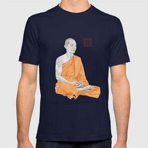 buddhist accessories, zen apparel, zen clothing, soul healer, buddhist gear and apparel, men's buddhist clothing, meditating buddha tshirt