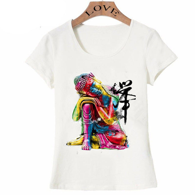 Mesmerizing Colorful Buddha  - Women's T-shirt