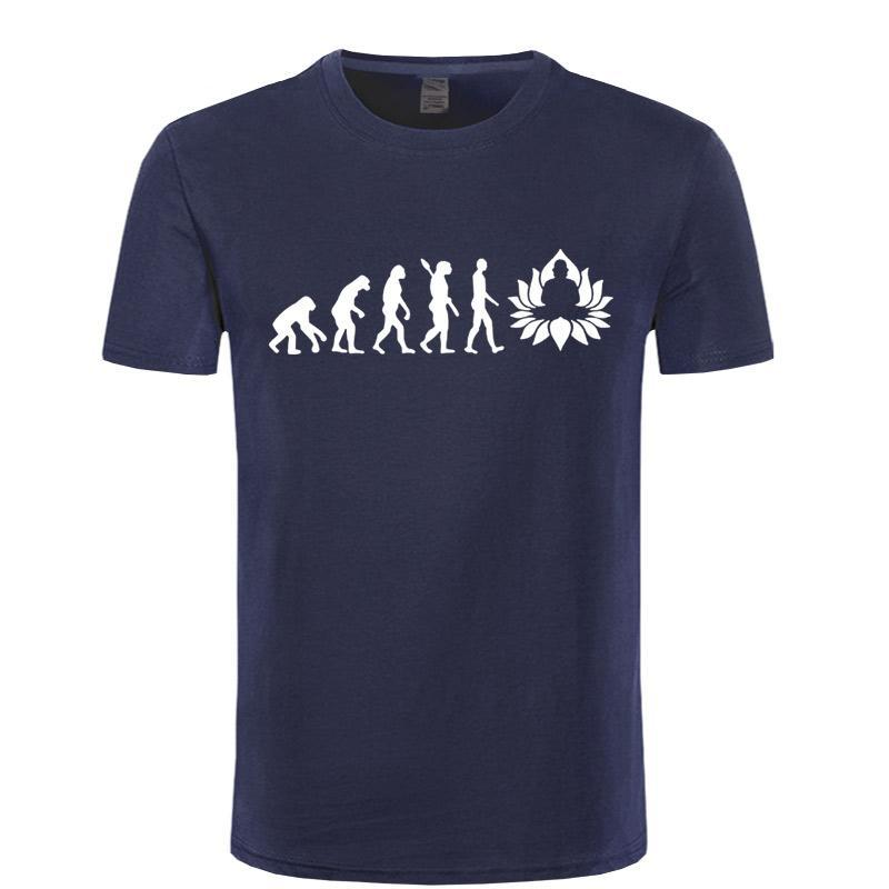 Evolution to Meditation - Men's T-shirt in 16 colors