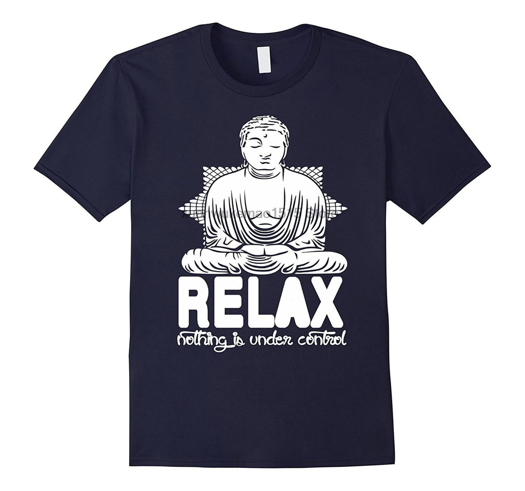 """Relax - Meditating Buddha"" Men's T-Shirt in 9 Colors"