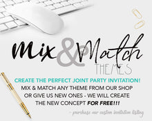 Joint Costume Party Birthday Invitation Halloween Birthday Invitations -  Twins - Monster Invitation - Witch Invitation