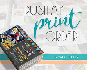 RUSH My Invitation Print Order - Add on Item for Professional Printing Orders - Expedited Print Process Time - CraftyKizzy
