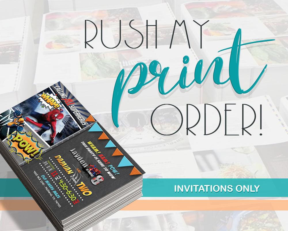 professional invitation printing for 5x7 or 4x6 invitations