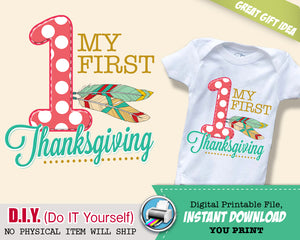 My First Thanksgiving Shirt - Gifts for children