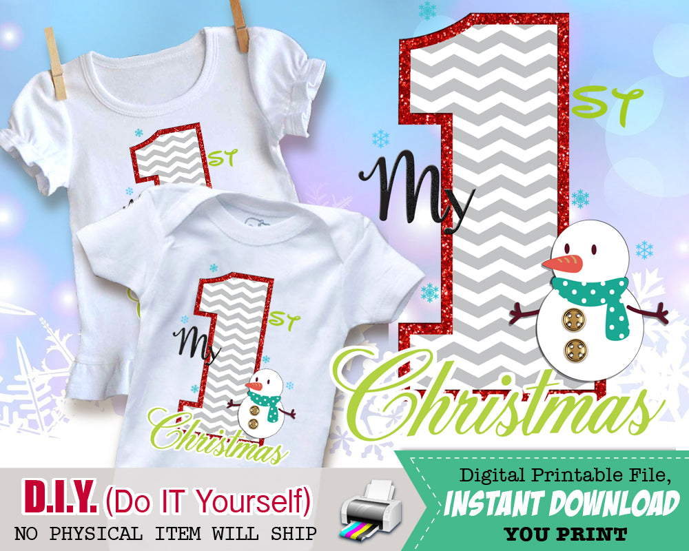 Believe christmas shirt iron on digital decal unisex holiday iron my 1st first christmas outfit iron on digital decal printable transfers holiday shirts unisex solutioingenieria Choice Image