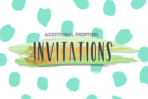 ADD ON Additional Invitation Printing For 5x7 or 4x6 Invitations, Includes White Envelopes