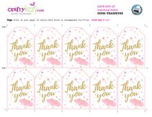 Pink Tutu Thank You Favor Tags - Ballerina Ballet Party Favors - INSTANT DOWNLOAD - CraftyKizzy