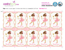 Ballerina Printable Party Favor Ideas