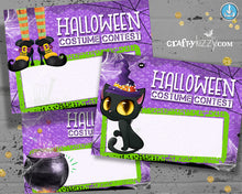 Halloween Ballot Cards, Entry Forms Costume Contest