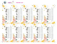 Mommy to be bee insert cards