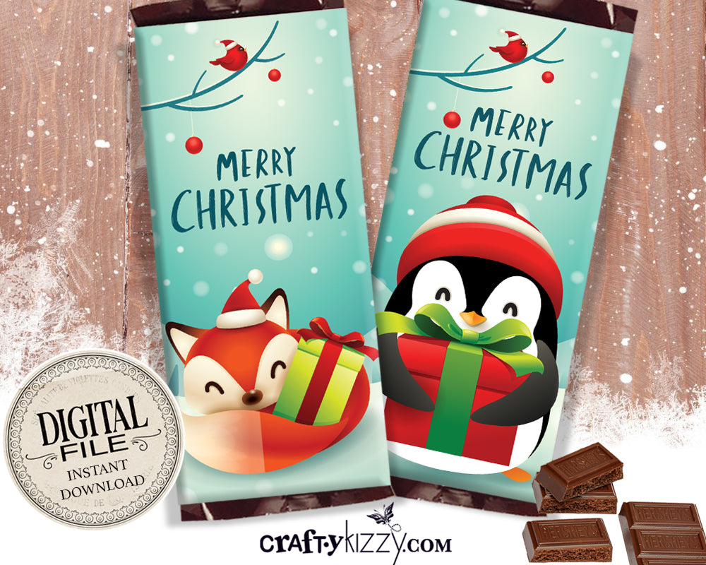 Merry Christmas Candy Wrappers