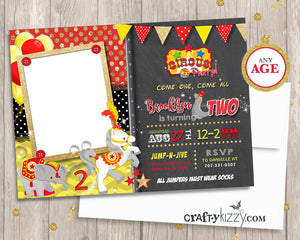Carnival Second Birthday Invitation - 2ND 1ST Or Any Age Girl Party Invite Printable - Birthday Extravaganza