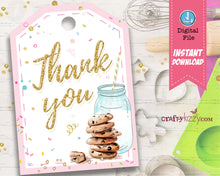 Cookies and Milk Thank You Tags
