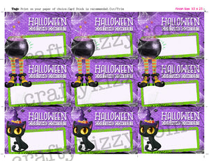 Costume Contest Ballot Tags Halloween Voting Cards - Printable Entry Card - Printable Ballots INSTANT DOWNLOAD