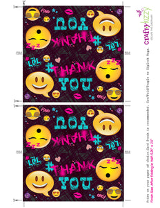 Emoji Thank you Birthday Party Favors