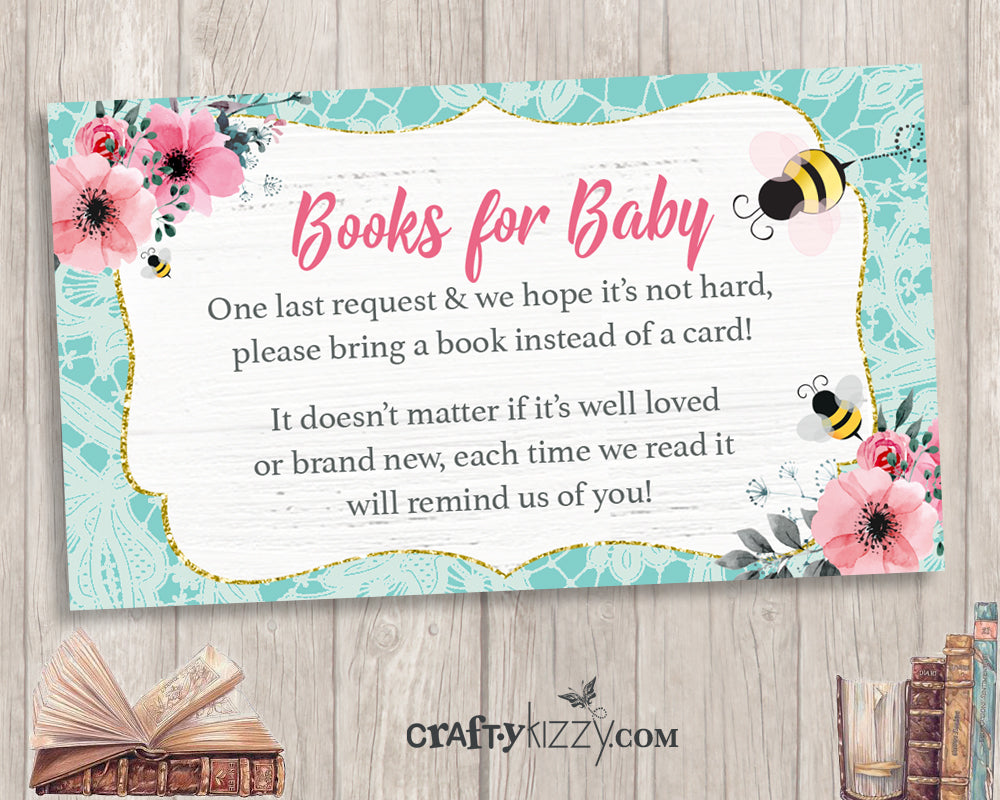 pink bumble bee thank you cards  diy baby shower thank