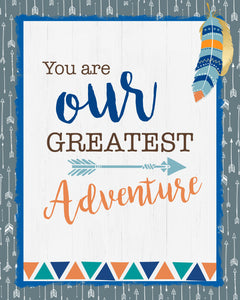 Woodland You Are Our Greatest Adventure Art Print - Digital Wall Decor - INSTANT DOWNLOAD