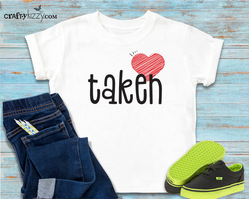 My heart is taken tshirt for kids