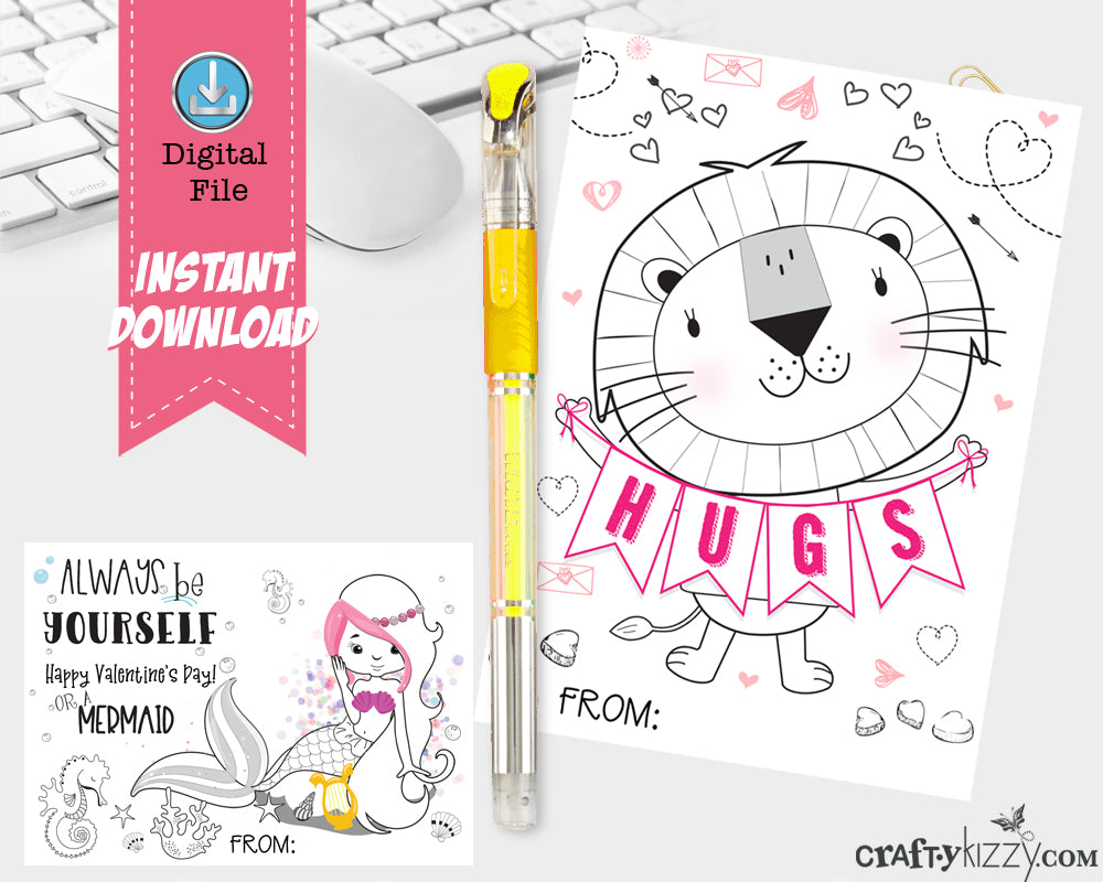 Valentines Bookmarks For Kids Printable Valentine's Gifts