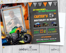 Monster Truck Boy Birthday Invitation - Off-Roading Birthday Party Invitations - Mudders Party - CraftyKizzy