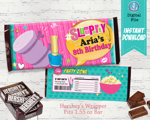 Slumber Party Candy Bar Wrappers - Party Favors