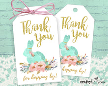 Rabbit Thank You favor Tag