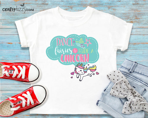 Fun toddler unicorn tshirt - unicorns outfit