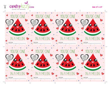 Watermelon Valentine's Printable classroom cards