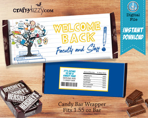 Teacher Gift Candy Bar Wrapper