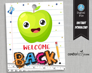 Welcome Back To School Tag - Welcome Back Classroom Tag - Favor Tags - Classroom Tag - Teacher Tag - INSTANT DOWNLOAD