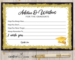 picture about Advice for the Graduate Free Printable called Social gathering Favors Decor CraftyKizzy