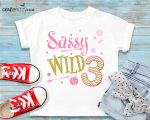 sweet sassy and three attitude tshirt