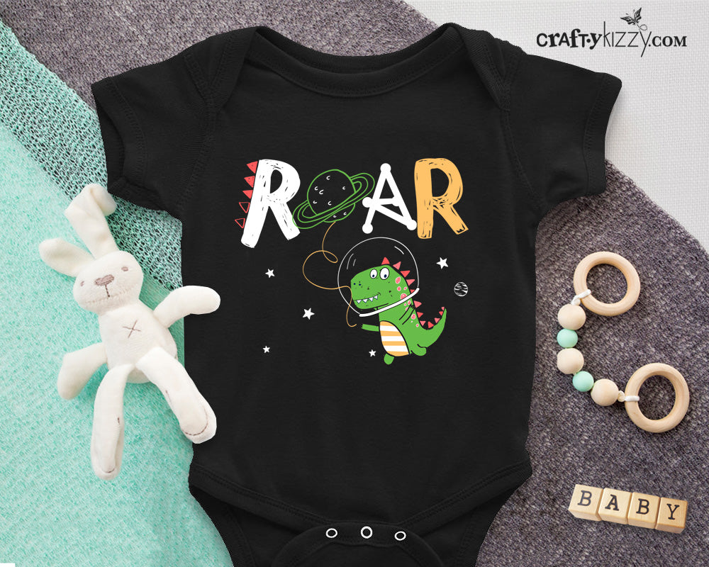 Dinosaur Astronaut Infant Bodysuit - Baby Boy Outfit - Dino One Piece Shirt - Baby Shower Gift - Boy 6M-24M