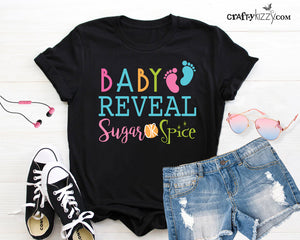 Gender Reveal T-shirt - Baby Reveal T-shirt - Sugar or Spice Women's short sleeve t-shirt