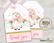 Magical Unicorn Favor Tag - Unicorn Party - Unicorn Thank You Tag - Birthday Unicorn Favor Tags - Unicorn Baby Shower  - INSTANT DOWNLOAD